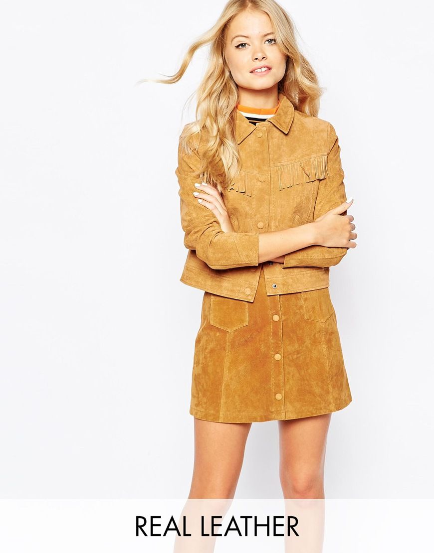 40bf9ef2eb244 Suede jacket of my dreams  Yes I think so... Obsessed with that fringe  detailing.