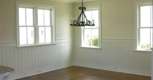 Room · Wide Bread Board And Chair Rail Pale Yellow Dining Room