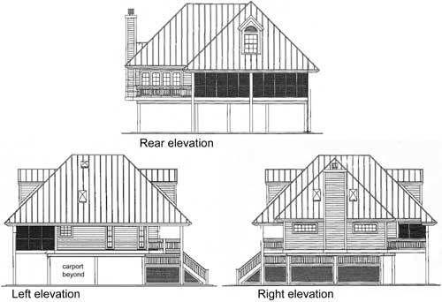 Plan 6351HD: Bermuda Island Style Elevation