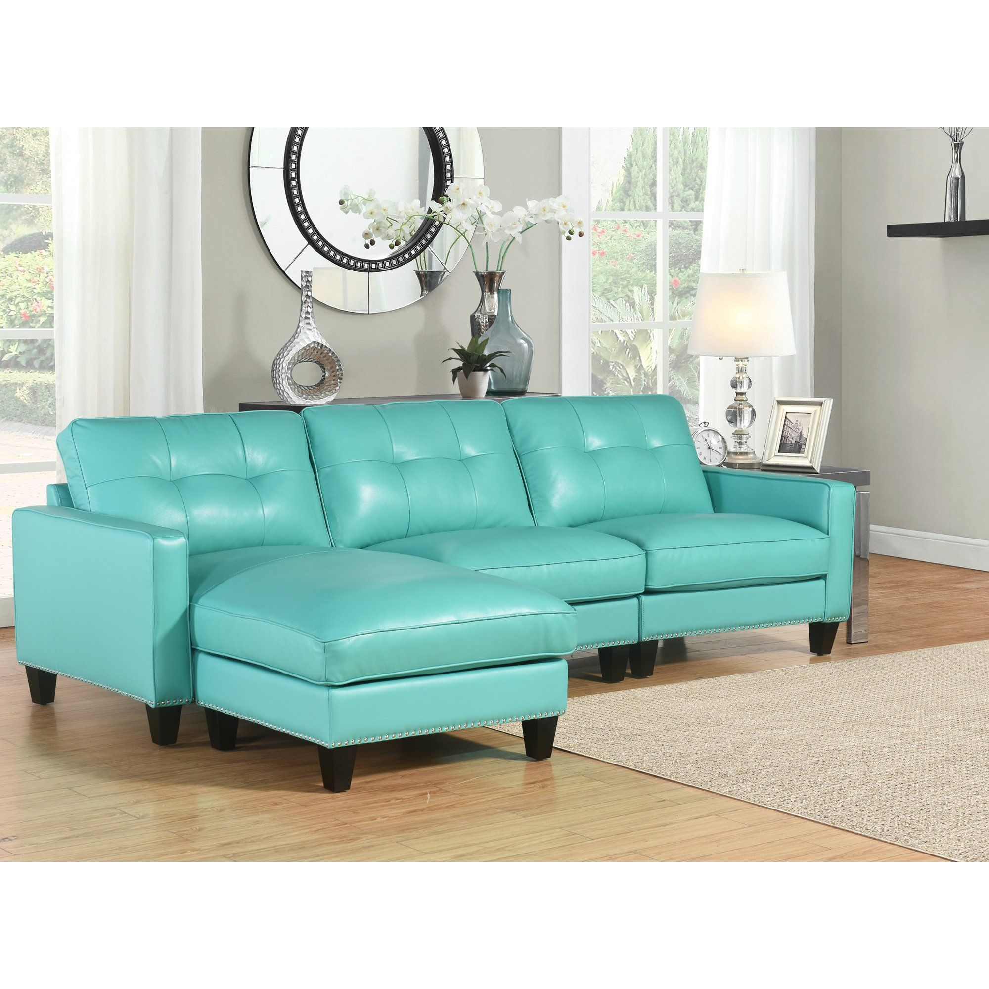 Best Main Image Zoomed Abbyson Living Leather Sectional Sofa 400 x 300