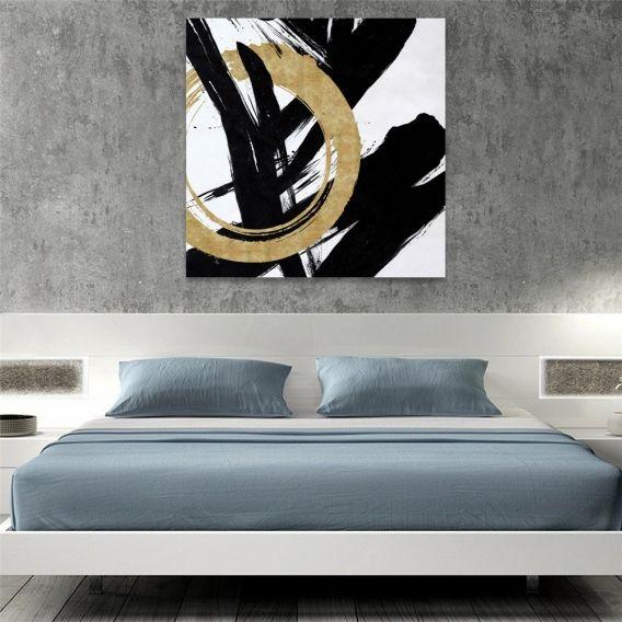 Peinture Design Gold Calligraphie   Toile Peinture Artwall ...