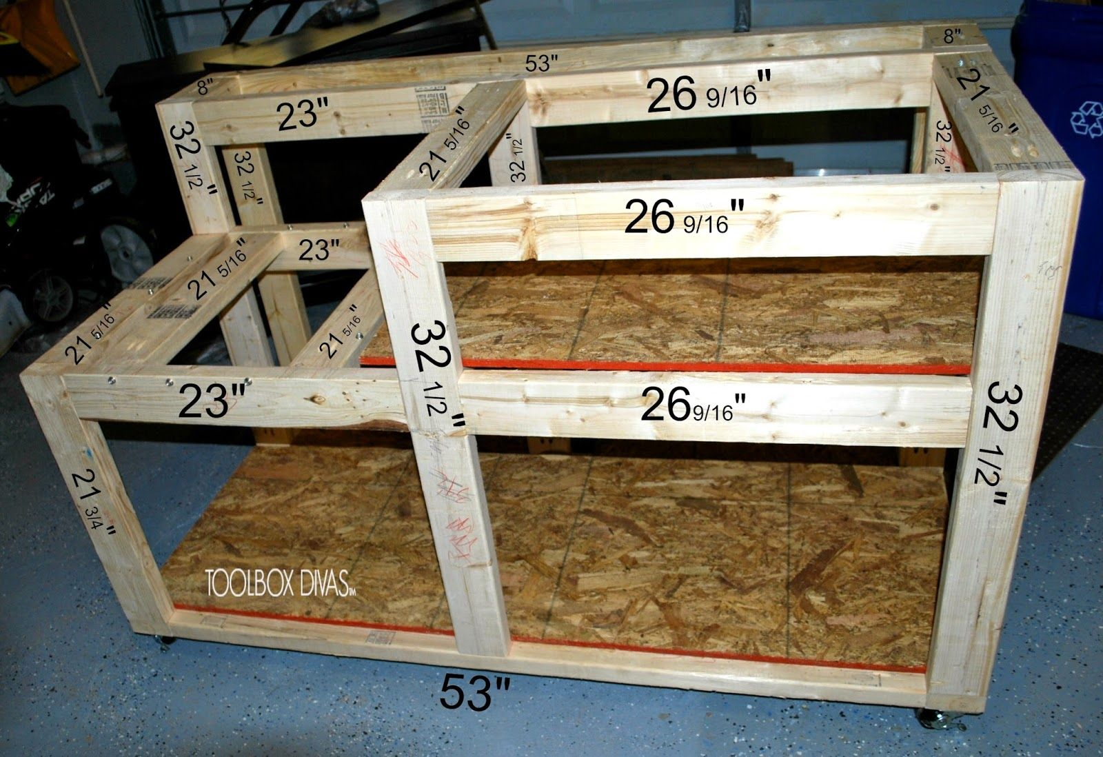 Table Saw Workbench with Wood Storage | Table saw ...