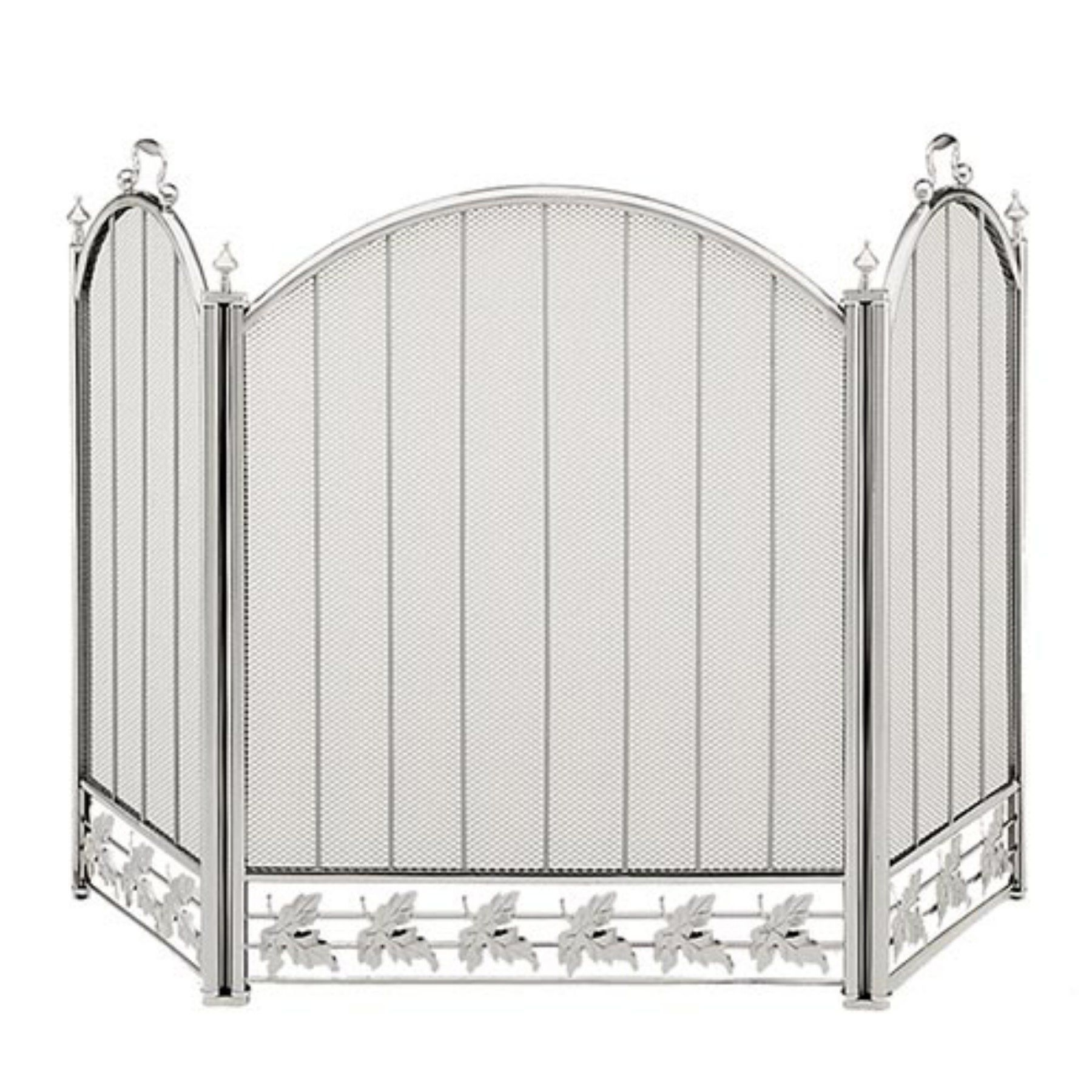 fold products front and fireplace structure home decorative koehler white fencing screens furniture decor picture tri metal screen collections black iron classic fake barnwood my cover frames