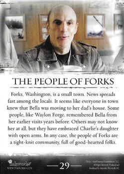 2008 Inkworks Twilight 29 The People Of Forks Trading Card Database In 2020 Twilight Story Twilight Facts Twilight