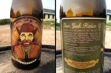 Jester King Craft Brewery's Beer Geek Rodeo bottle