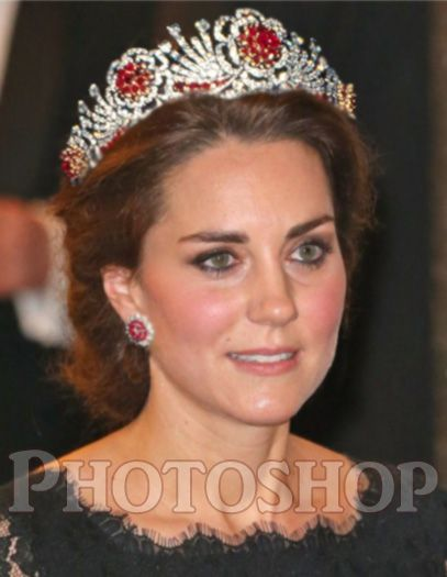 Queen Elizabeth's Burmese Ruby Tiara - PHOTOSHOPPED!!!!