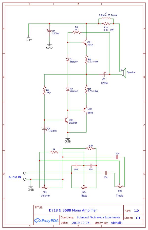 D718 B688 Powerful Amplifier DIY Homemade - TRONICSpro in ...