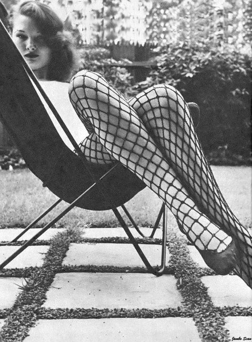fishnets and butterfly chair