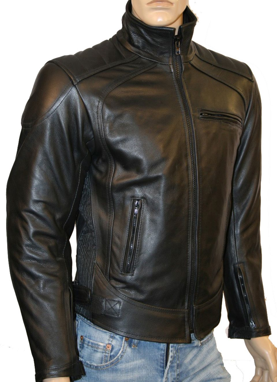 Leather jacket for motorcycle riding - Men S Leather Motorcycle Jackets