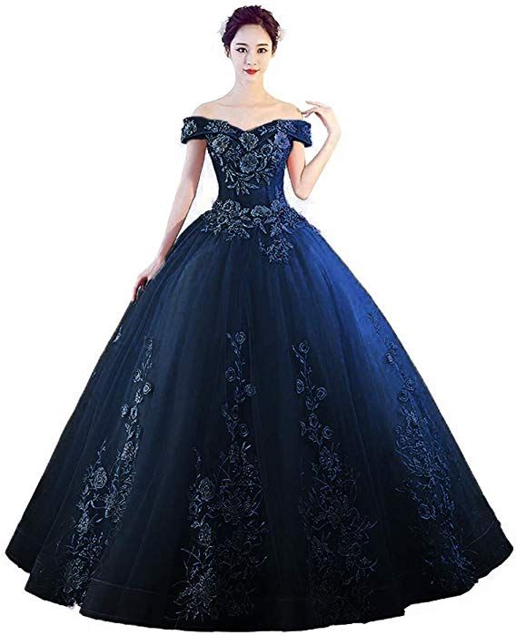 LEJY Women's Off The Shoulder Quinceanera Dresses Applique Masquerade Ball Gowns Prom Dresses at Amazon Women's Clothing store: #masqueradeballgowns
