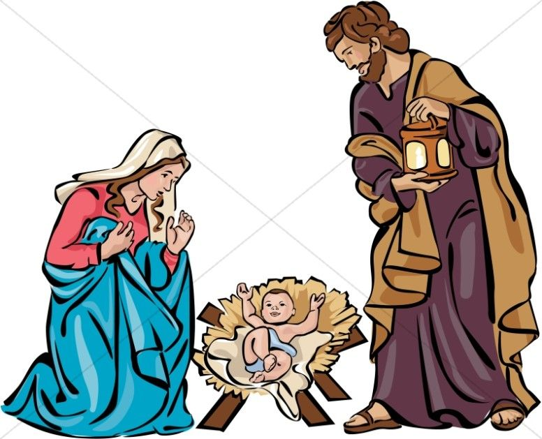 holy family nativity in color betl my v r zn m proveden rh pinterest com lds christmas clipart nativity christmas nativity clipart black and white free