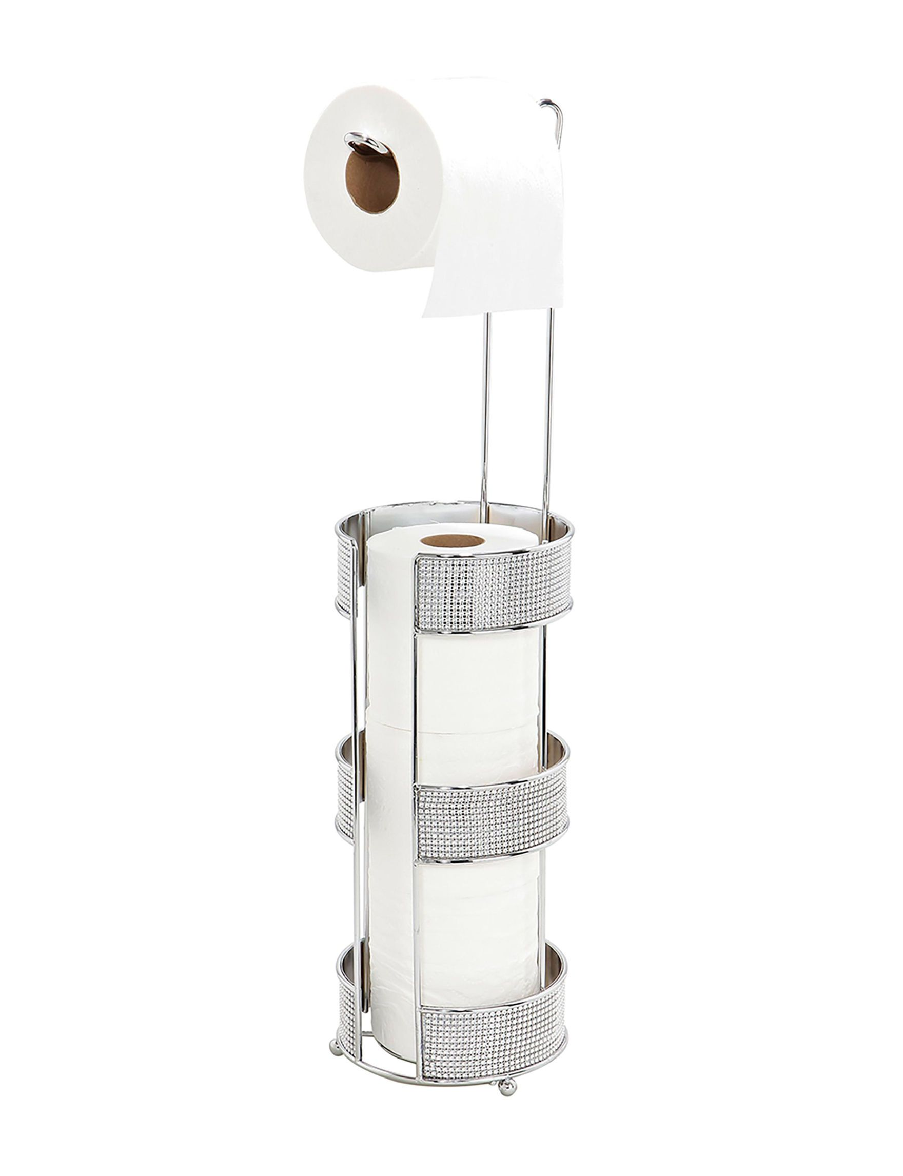 Bath Bliss Chrome Bath Accessories Toilet paper holder