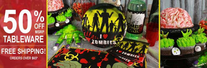zombie birthday party supplies Google Search Zombie Birthday
