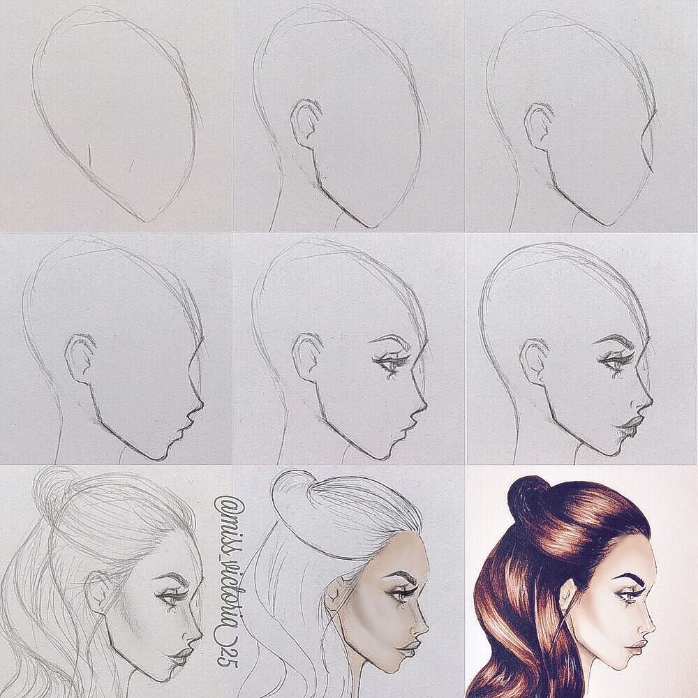 """Victoria Jenkins on Instagram: """"How to draw profile faces"""