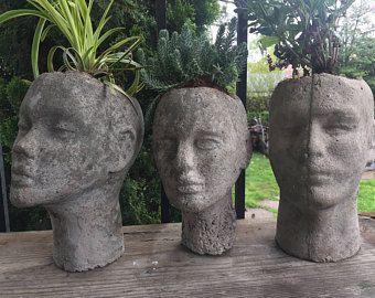 Ähnliche Artikel Wie Lady Of The Garden Head Planter Auf Etsy