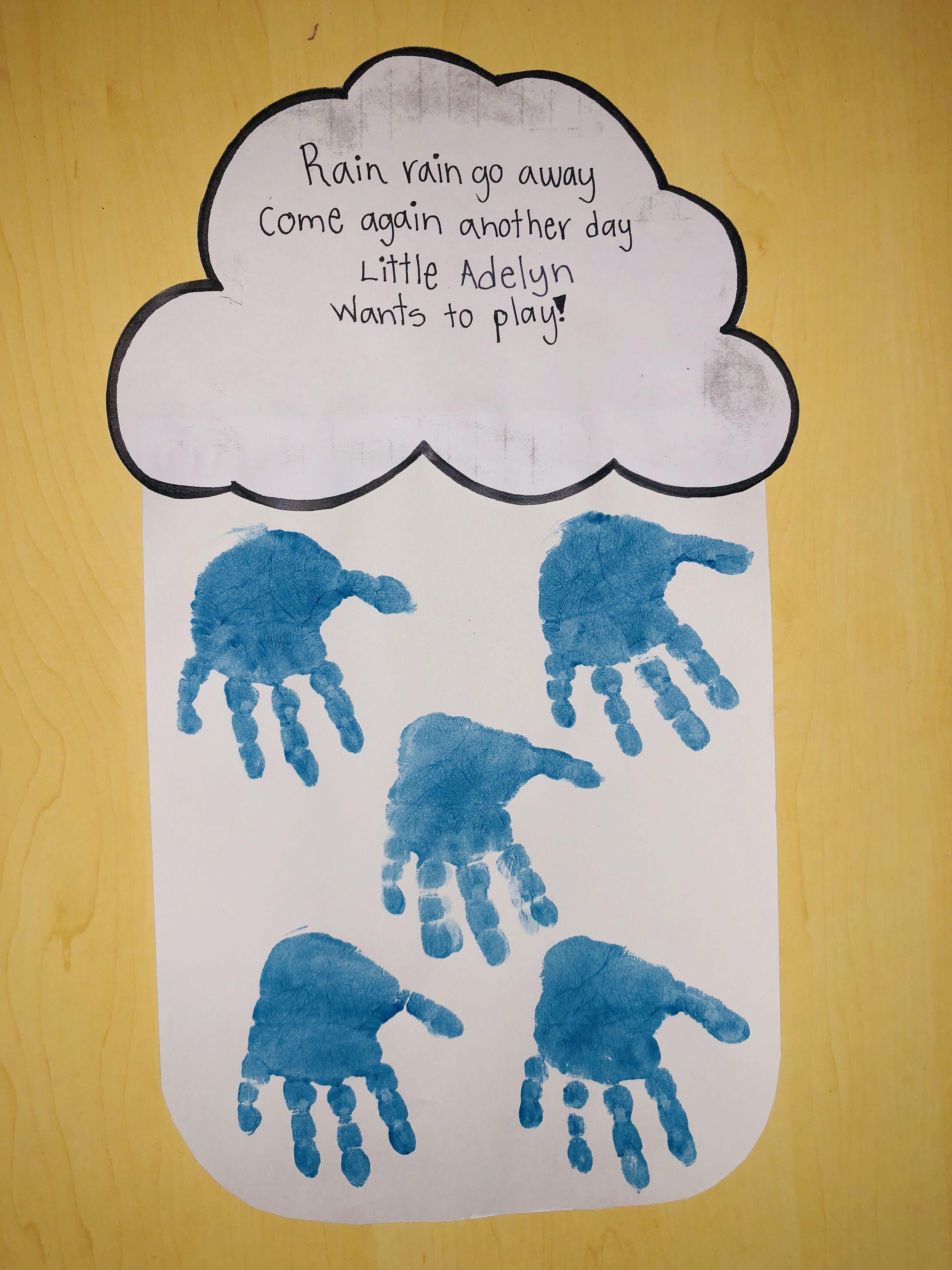 Rain Worksheet For Preschool Science