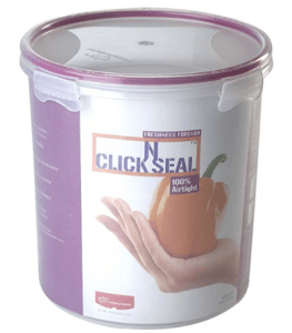 Amazon  Buy Princeware Click N Seal Canister 3.82 Litres Violet at Rs.222 only