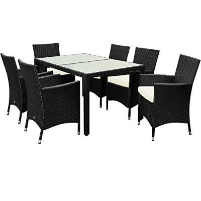 7pcs Rattan Garden Furniture Dining Table And Chairs Set