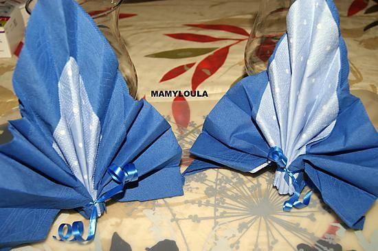 Pliage De Serviette Bi Color Eventail D Orient Pliage Serviette Serviette Papier Serviettes