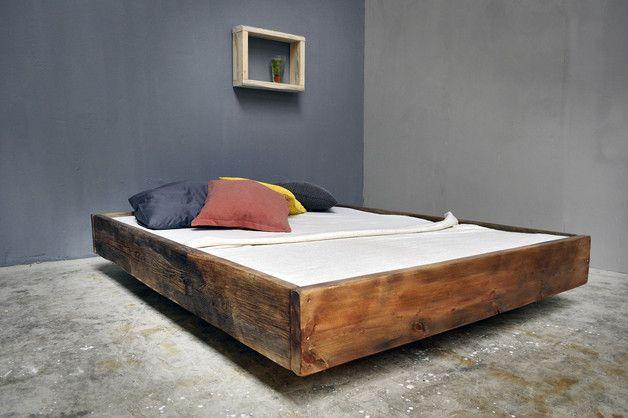 Betten   Bauholz Bett Lussan Rood 160 X 200 Cm   Ein Designerstück Von  FraaiBerlin Bei