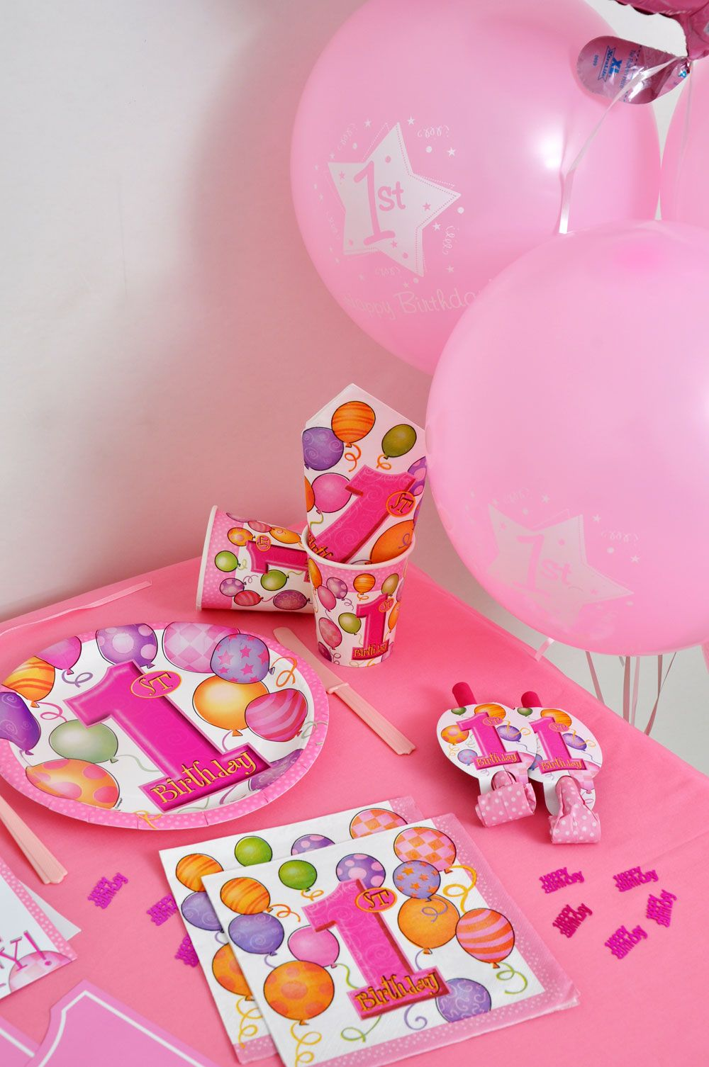 First Birthday Girl Party Balloons 1st birthday parties