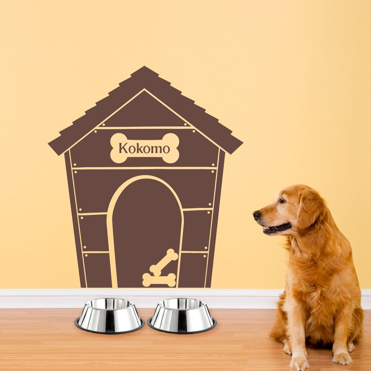 Personalized Doghouse with Dogs Name Wall Decal - Large | pet ...