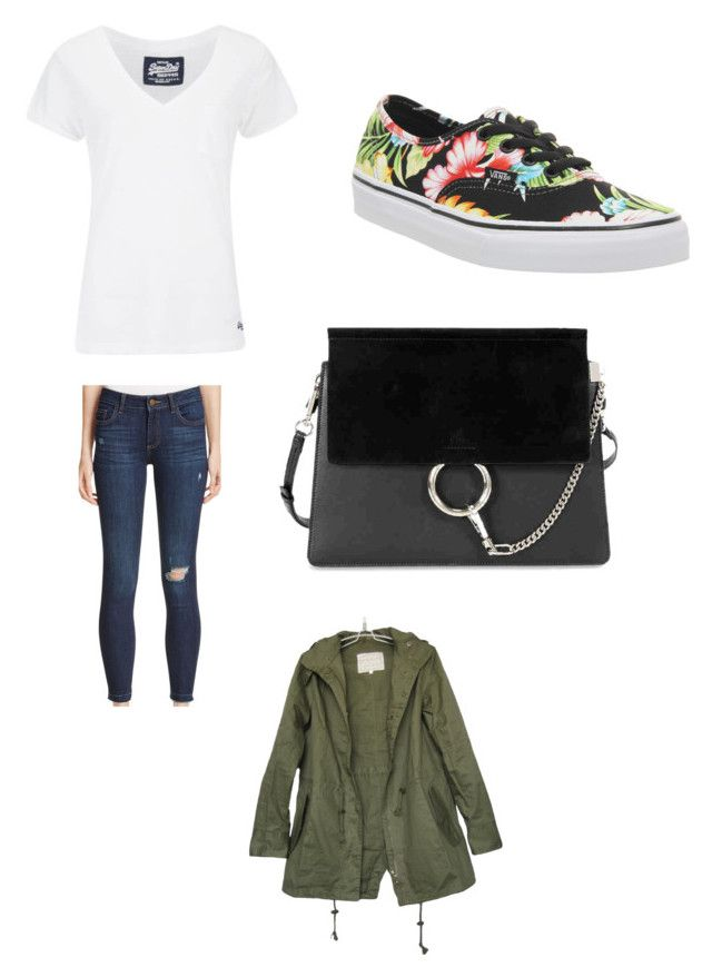 """Untitled #840"" by alessiaaaaaaaaa ❤ liked on Polyvore featuring Superdry, Warp & Weft, Vans and Chloé"