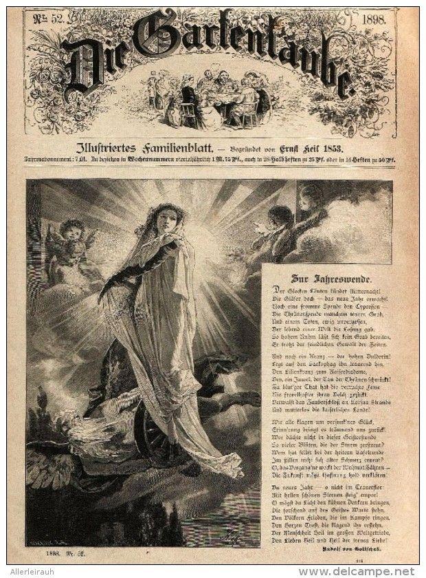 Zur Jahreswende Druck Und Gedicht Entnommen Aus Die Gartenlaube 1898 Artikelnummer 399454073 Laub Gartenlaube Garten