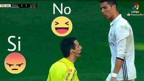 Tras la sanción de Neymar Jr de 3 partidos crees que LaLiga también debe sancionar a Cristiano Ronaldo por los insultos al árbitro en el derby?