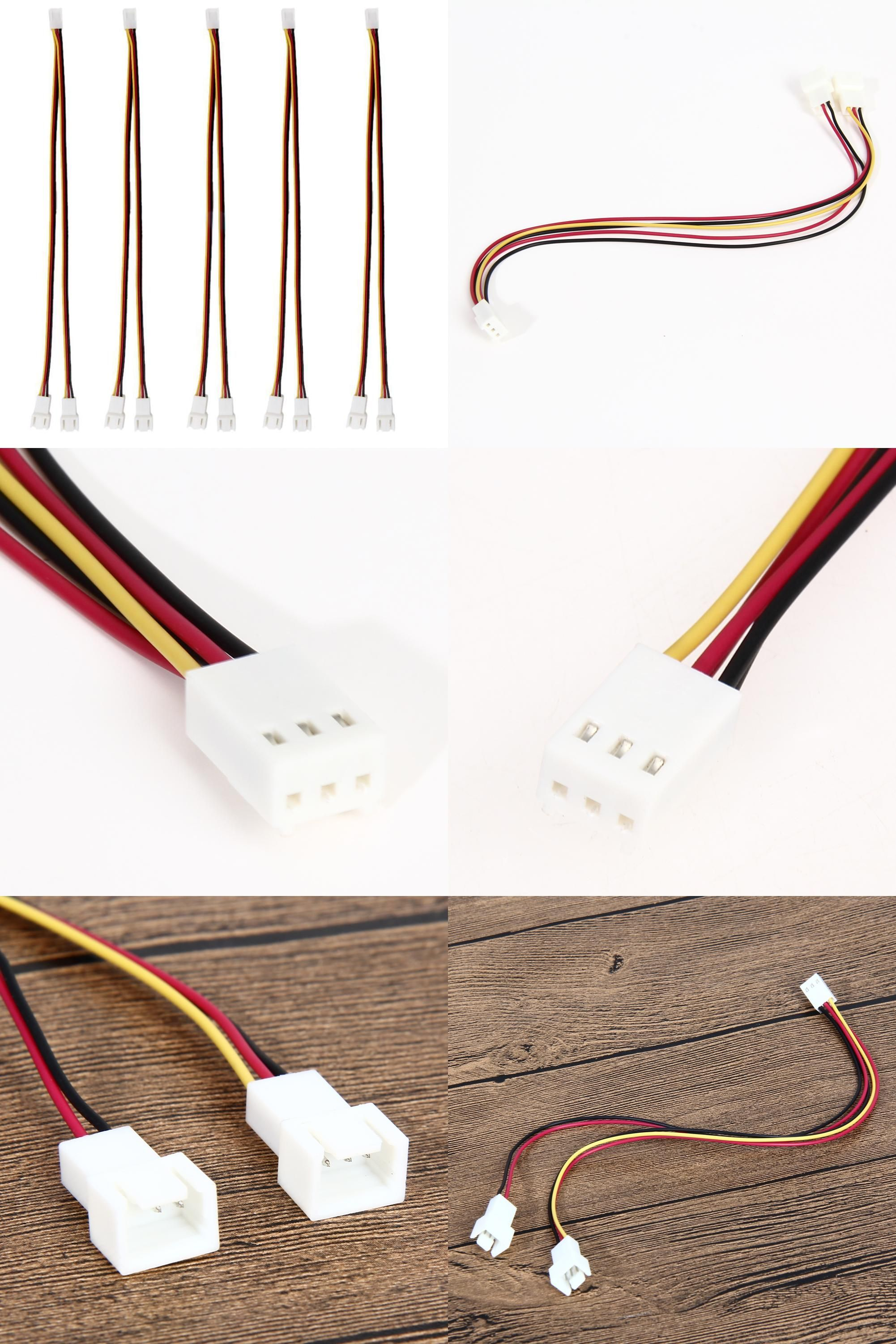Visit To Buy New 5pcs Fan Connector Cable 12v 3 Pin Female To 2 3 Pin Male Pc Fan Power Splitter Extension Cable High Qua Extension Cable Splitters Connector
