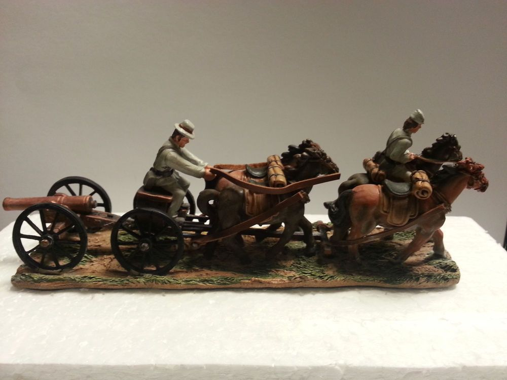 Confederate Soldiers Horses Cannon Limber Painted Metal Soldiers Civil War New Americanasouvenirandgifts Confederate Soldiers Metallic Paint Confederate
