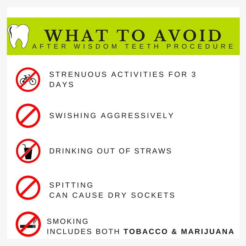 Things To Avoid After Wisdom Teeth Procedure Wisdom Teeth Wisdom Teeth Recovery After Wisdom Teeth Removal
