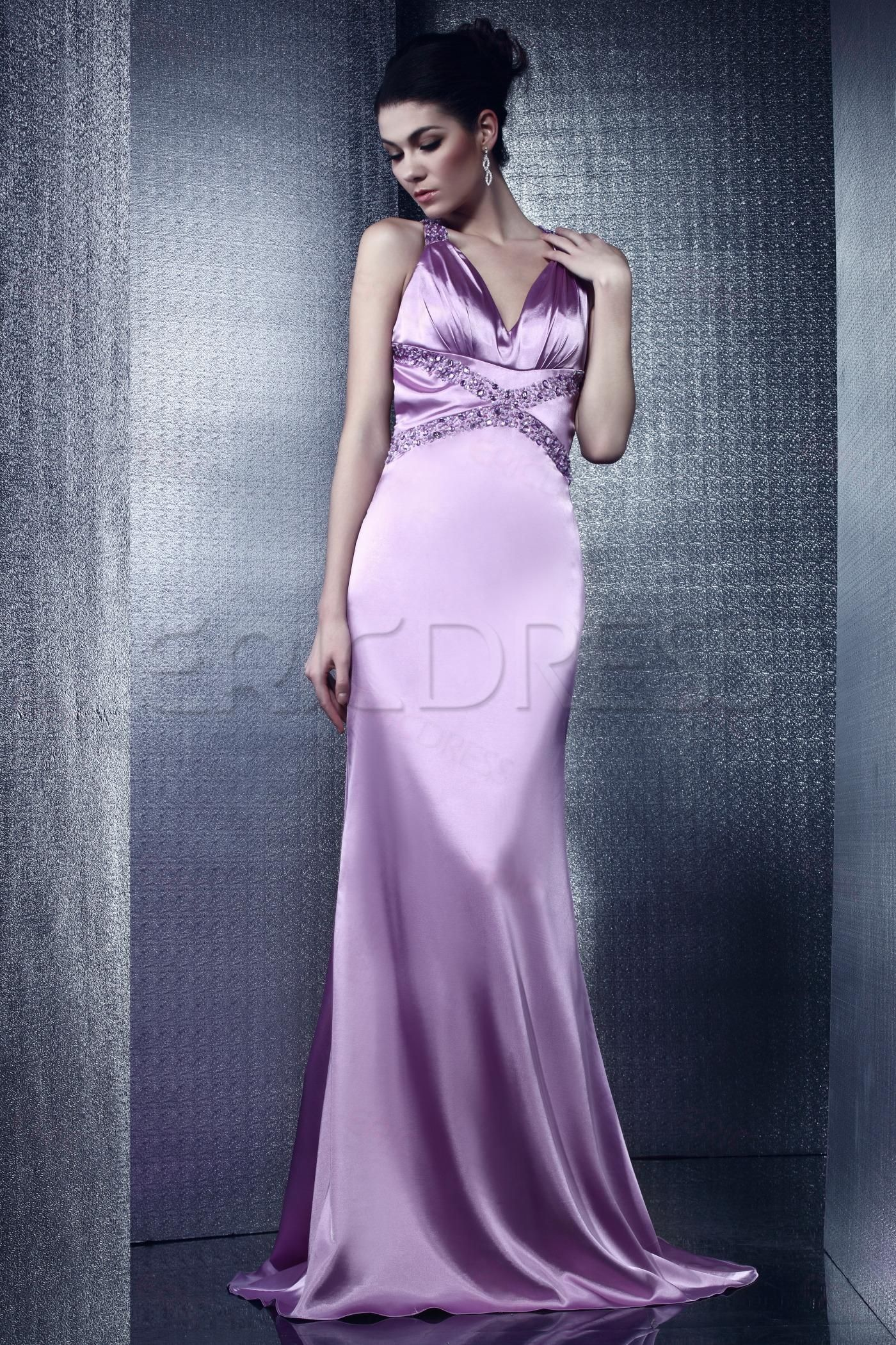 $ 67.69 Light Purple Mermaid Deep V-Neck Olga's Evening/Prom DressLarge-scale exaggeration and sexy with strong color contrast