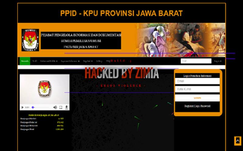 Bareskrim Polri Ciduk Peretas Situs Bawaslu Screenshots