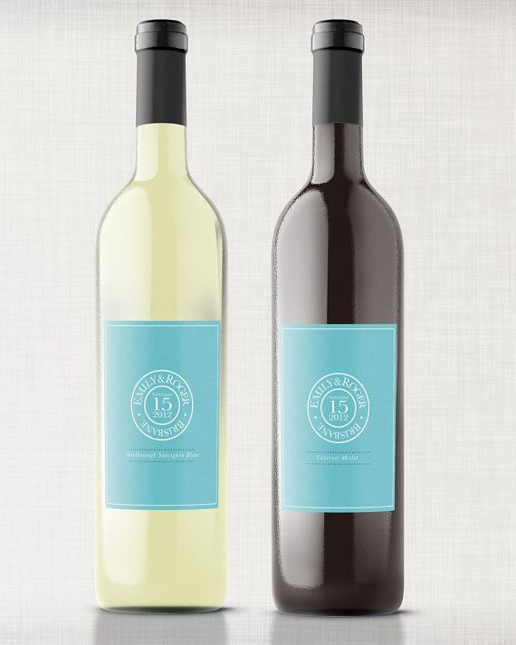 graphic regarding Printable Wine Bottle Label identified as Printable Wine Bottle Labels: Tailor made Labels inside Tiffany Blue