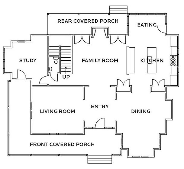 HGTV Dream Home 2010 Floor Plan and Rendering  Dream Home  Home