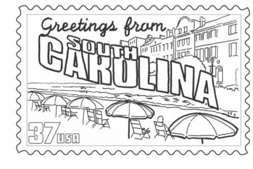 usa printables south carolina state stamp us states coloring pages