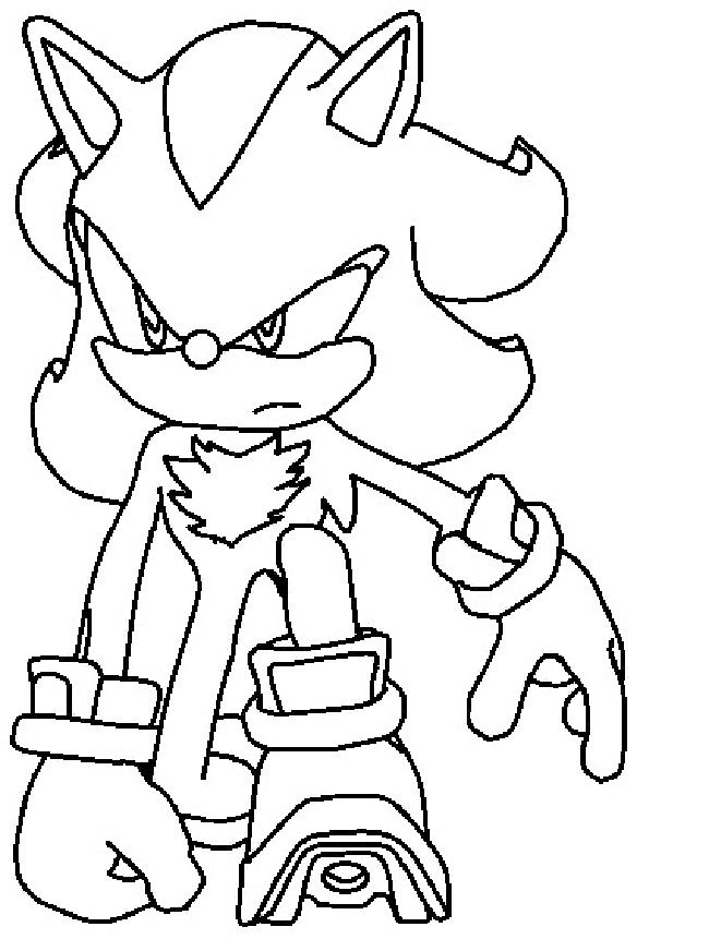 shadow the hedgehog coloring pages # 20