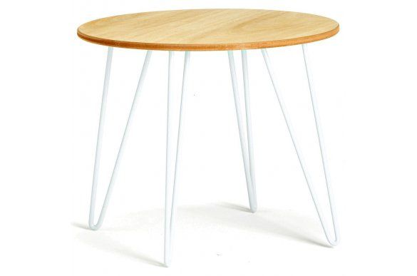 Club Centrakor Com Table Basse Blanche ø48x40cm Salon