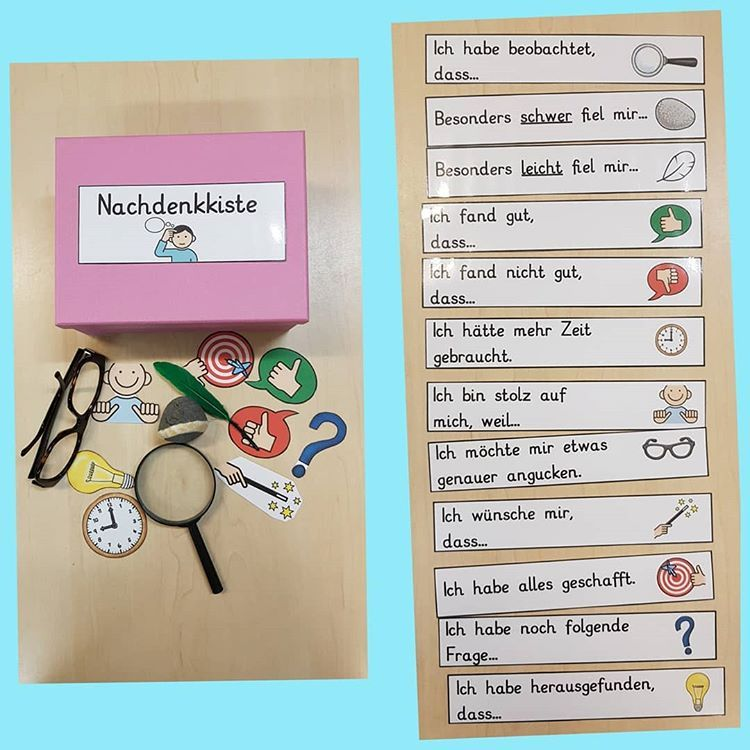 Dominique Palazzo Auf Instagram Jetzt Haben Wir Auch Eine Nachdenkkiste Die Ideen Zur Reflektion Habe Ich Montessori Materials Teaching Classroom Management