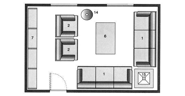 Plan salon gratuit  10 plans pour aménager le salon Spaces