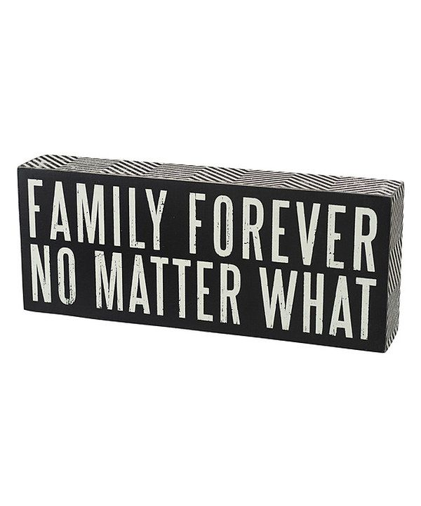 Look at this #zulilyfind! 'Family Forever' Wall Sign by Primitives by Kathy #zulilyfinds