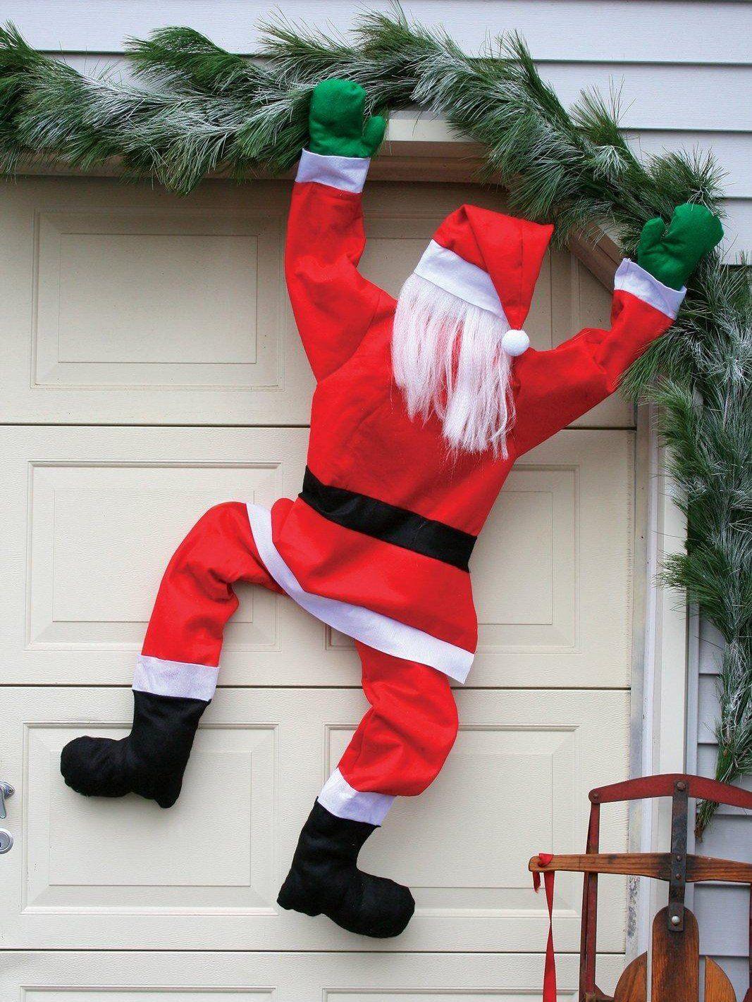 Xmas Decorations Climbing Santa Claus Large