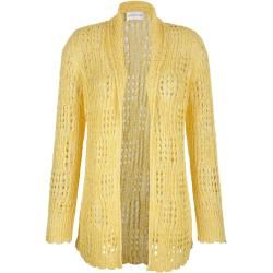 Photo of Amy Vermont, knitted cardigan, yellow Amy VermontAmy Vermont