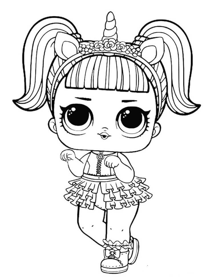 Unicorn-Lol-Doll-Coloring-Page.jpg 750×980 Pixels Unicorn Coloring Pages,  Kitty Coloring, Cat Coloring Page