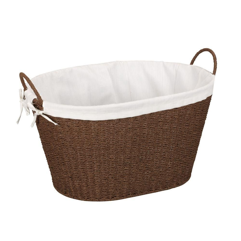 English Cottage Style For Your Inner Austen Woven Laundry Basket
