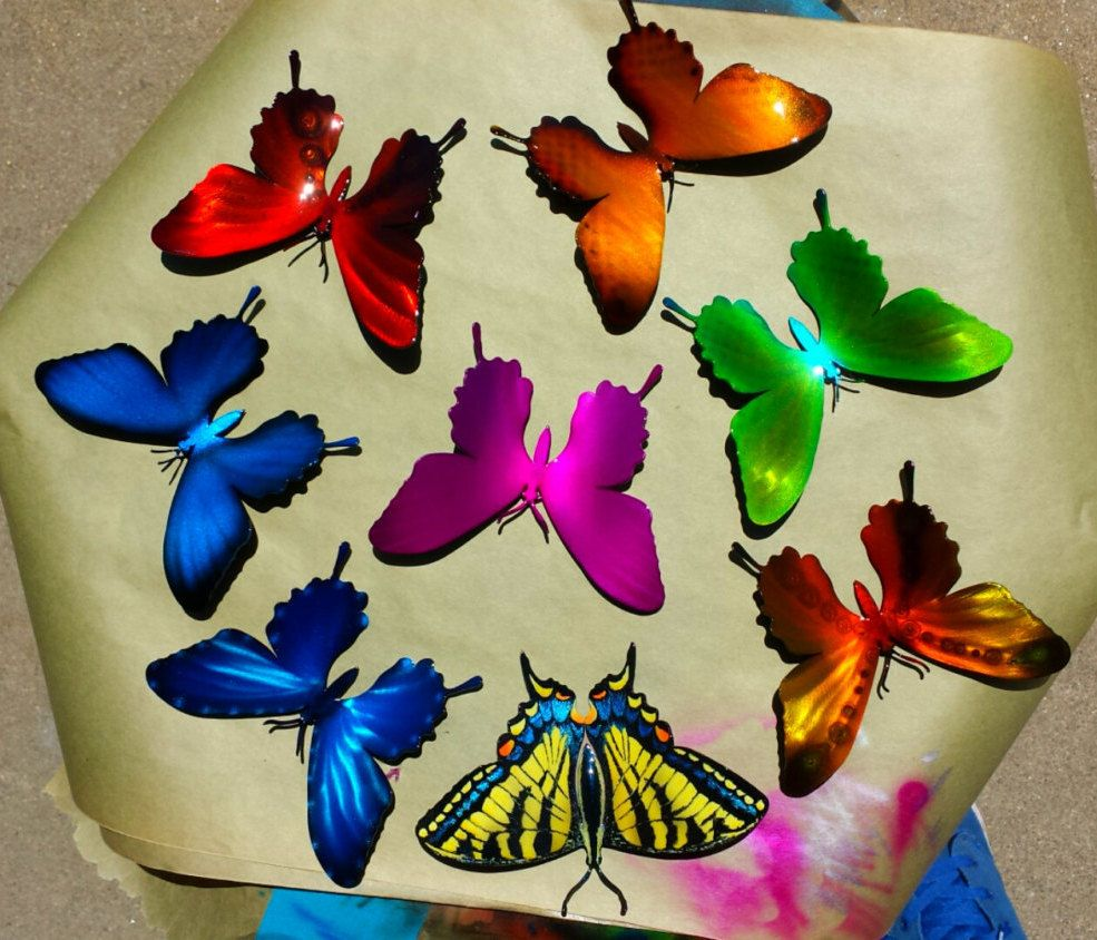 inch airbrushed metal butterfly wall decor butterfly wall decor