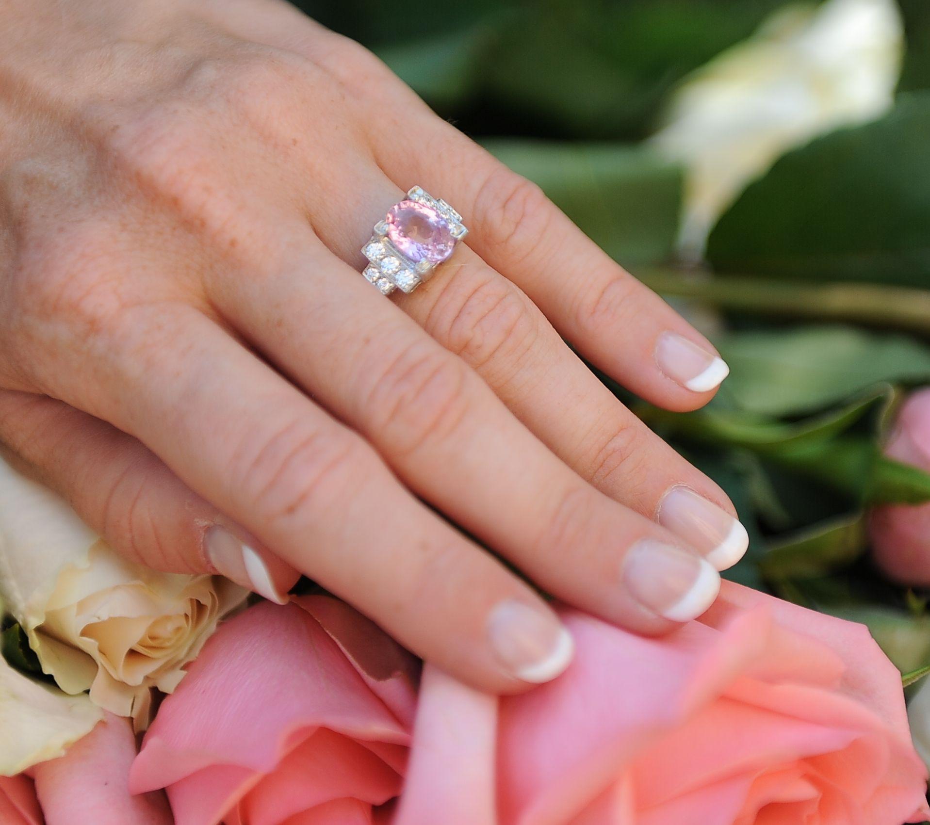 thanksgiving #padparadscha #ring #artdeco #jewelry #present | The JG ...