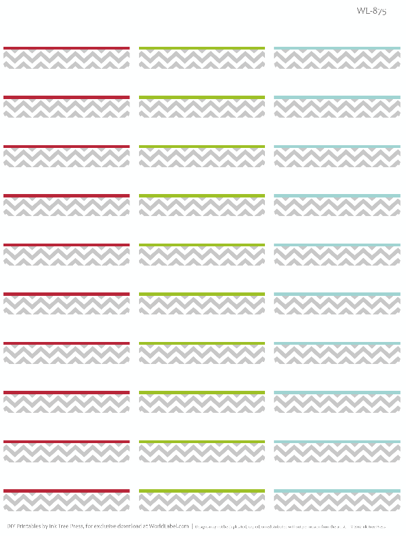 free printable address labels with a chevron pattern design