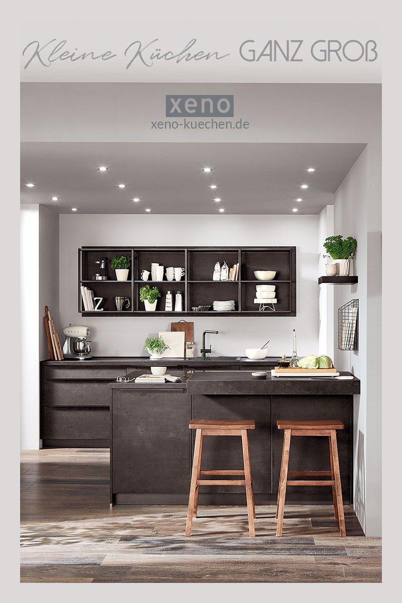 Kleine Küchen ganz groß in 2020 Kitchen design, Modern